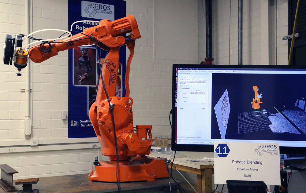Scan-N-Plan for On-The-Fly Robotic Blending Demonstration workcell.