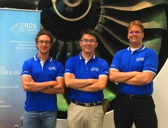 ROS-I Consortium Managers (from left) -Mirko Bordignon (Fraunhofer IPA), Nicholas Yeo (ARTC), Paul Hvass (SwRI)