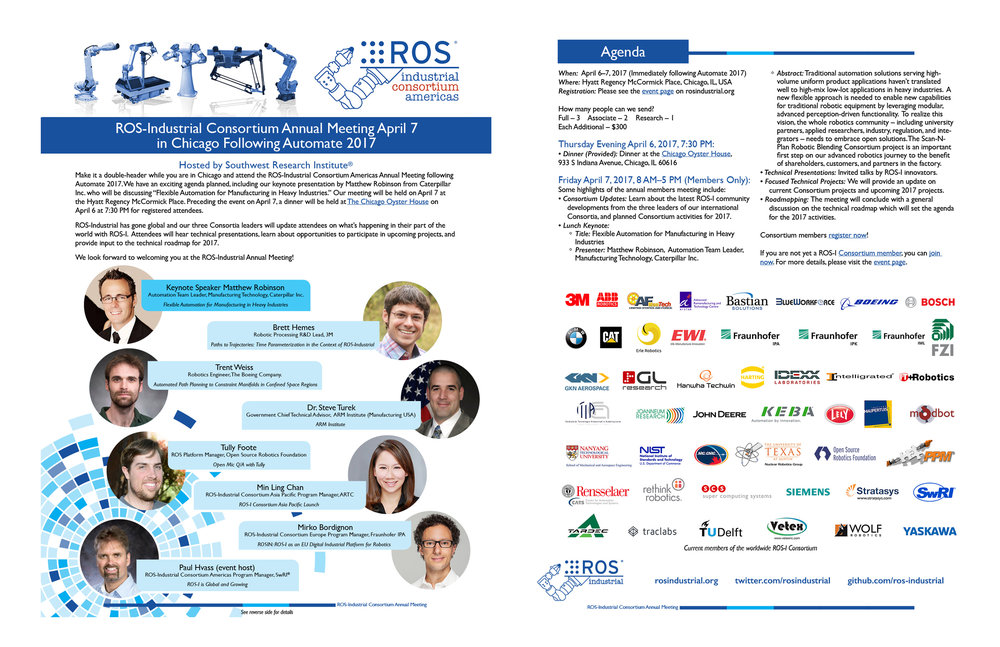 Click the image above to download a printable flier for the ROS-I Consortium Americas Annual Meeting.