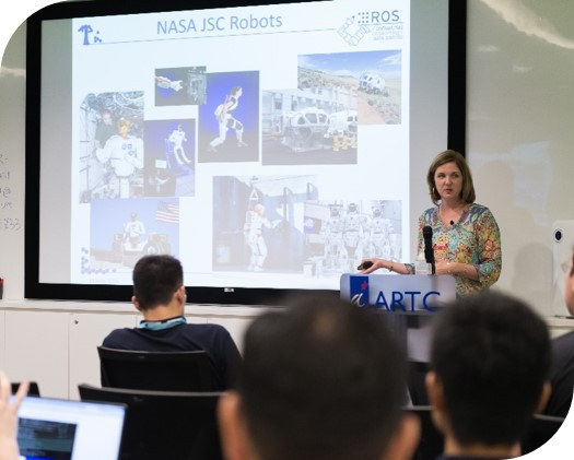 Dr. Kimberly hambuchen (NASA JSC) presented ROS use in NASA at Johnson space centre