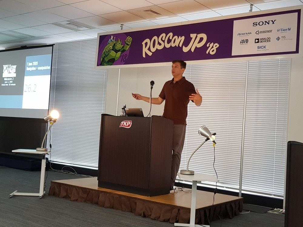 Fig 2. Brian Gerkey (CEO, Open Robotics) presents on 'Future ROS'