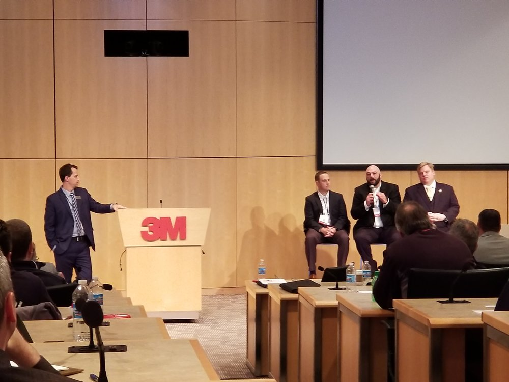 ATI, PushCorp, and Fer Robotics participate on a panel discussing force control in surface finishing and grinding applications.