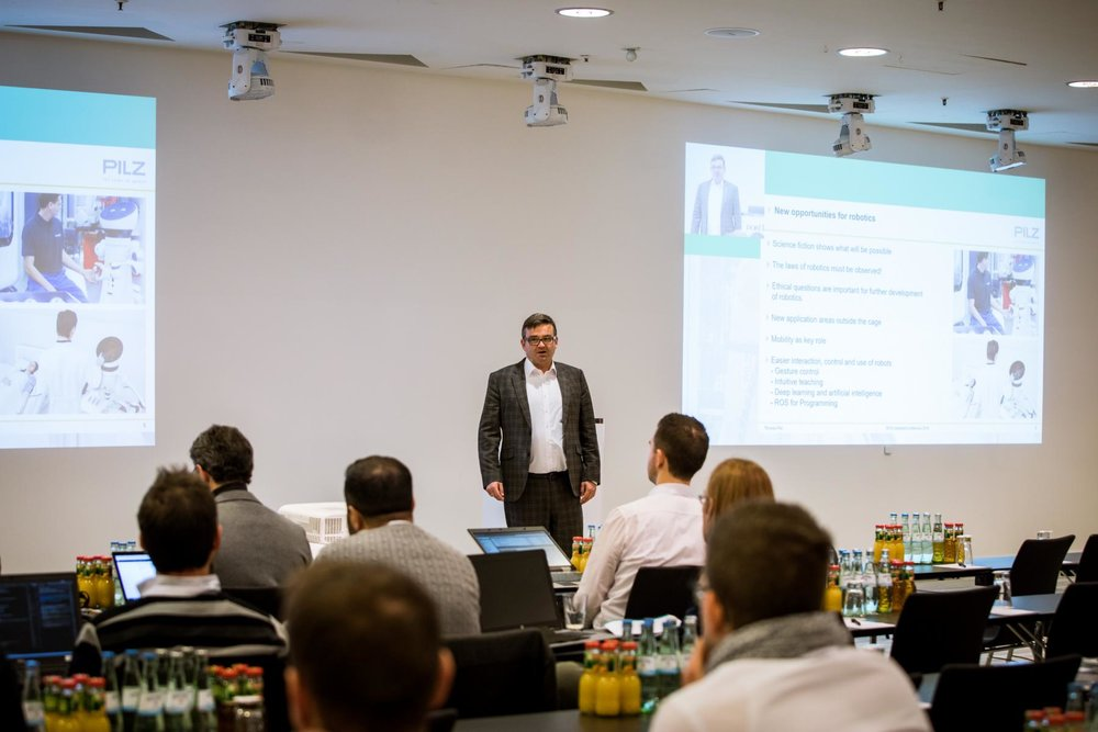 Thomas Pilz (Pilz GmbH & Co. KG) at ROS-Inudstrial Conference 2018