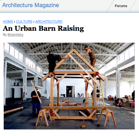 BILLY RUECK, '12 - URBAN BARN RAISING