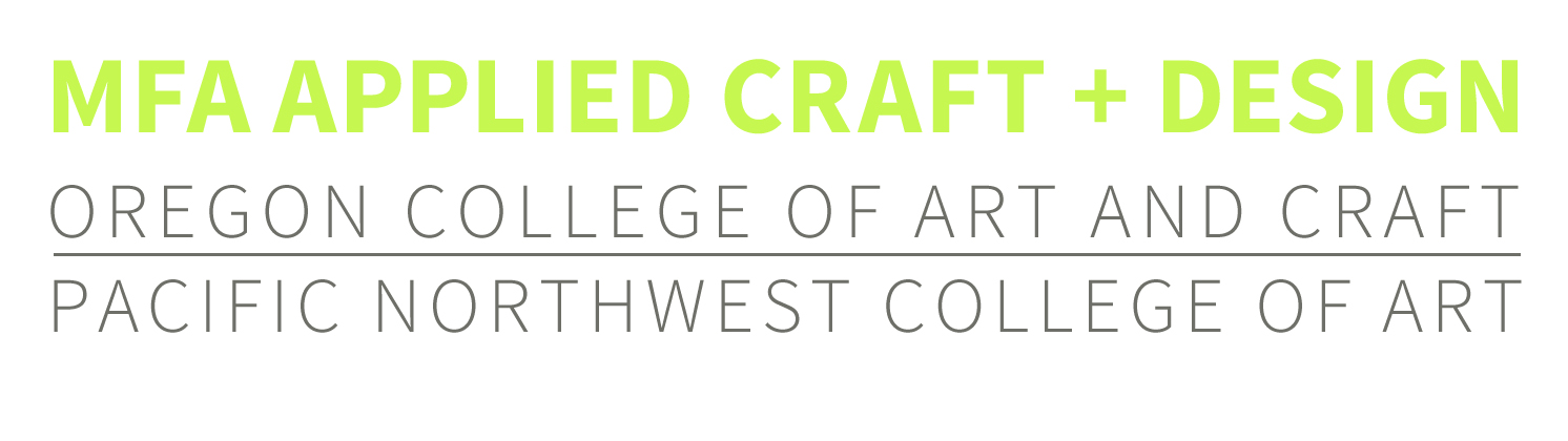 MFA Applied Craft + Design