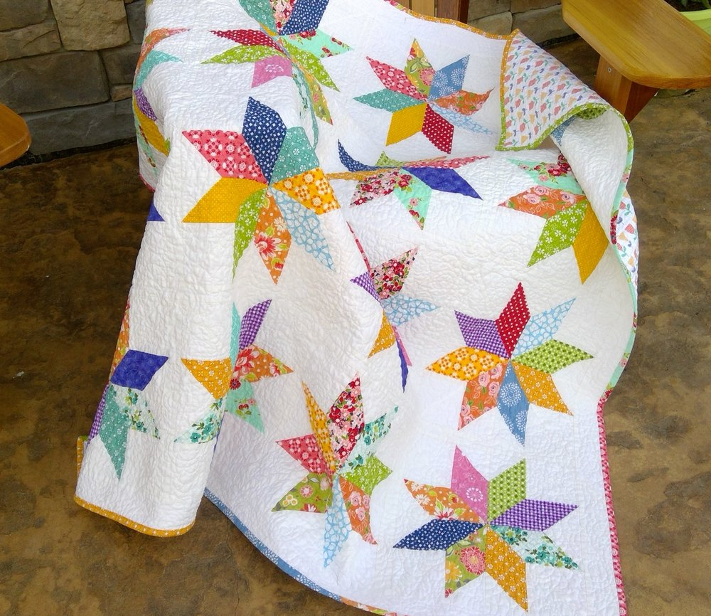 "Kits will be available for this quilt.  It is 51"" x 51""."