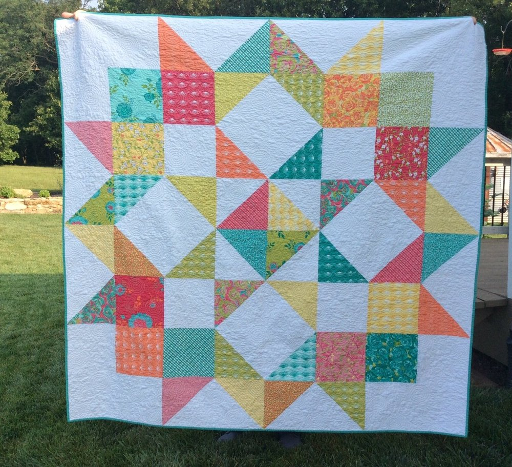 Moda Love quilt   (uses a layer cake)