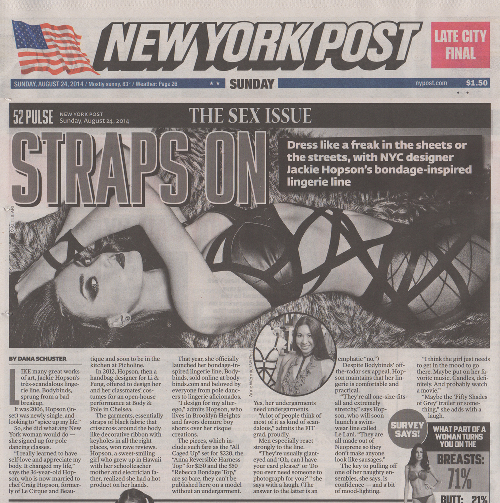BODYBINDS FEATURED IN  THE NEW YORK POST!