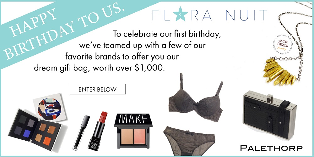 Flora Nuit BIrthdaay Giveaway