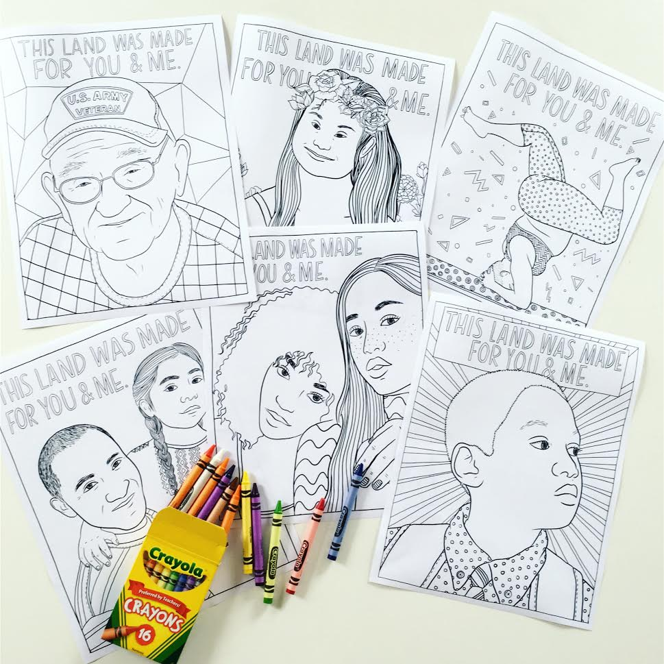 """This Land"" Coloring Pages"