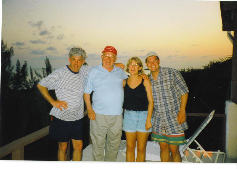 My step-dad, Grandpa, me and my husband