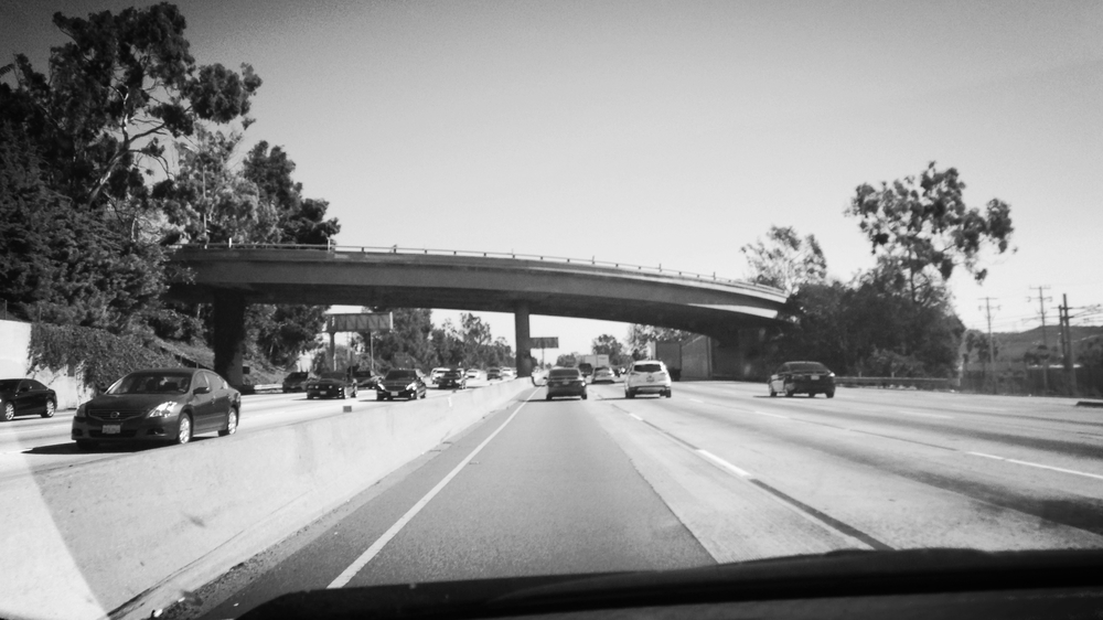 Los Angeles Freeway where many spend their time if they are a resident of LA. (Of course, it is THE 10 - not just 10.)