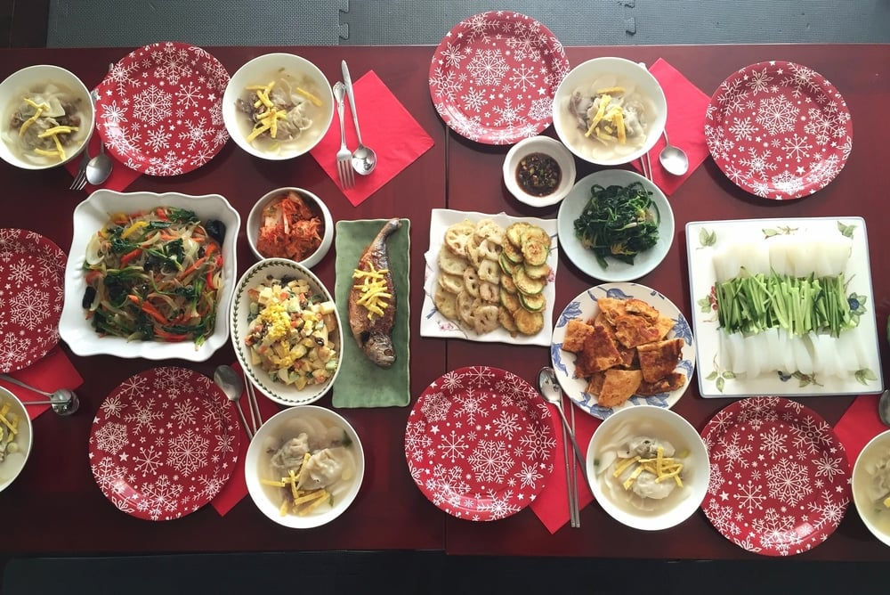 Our traditional New Year's Day meal. (Photo courtesy of my sister, Ashley Cho)