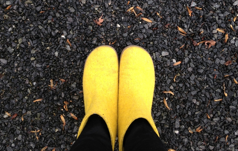 My yellow boots that could.