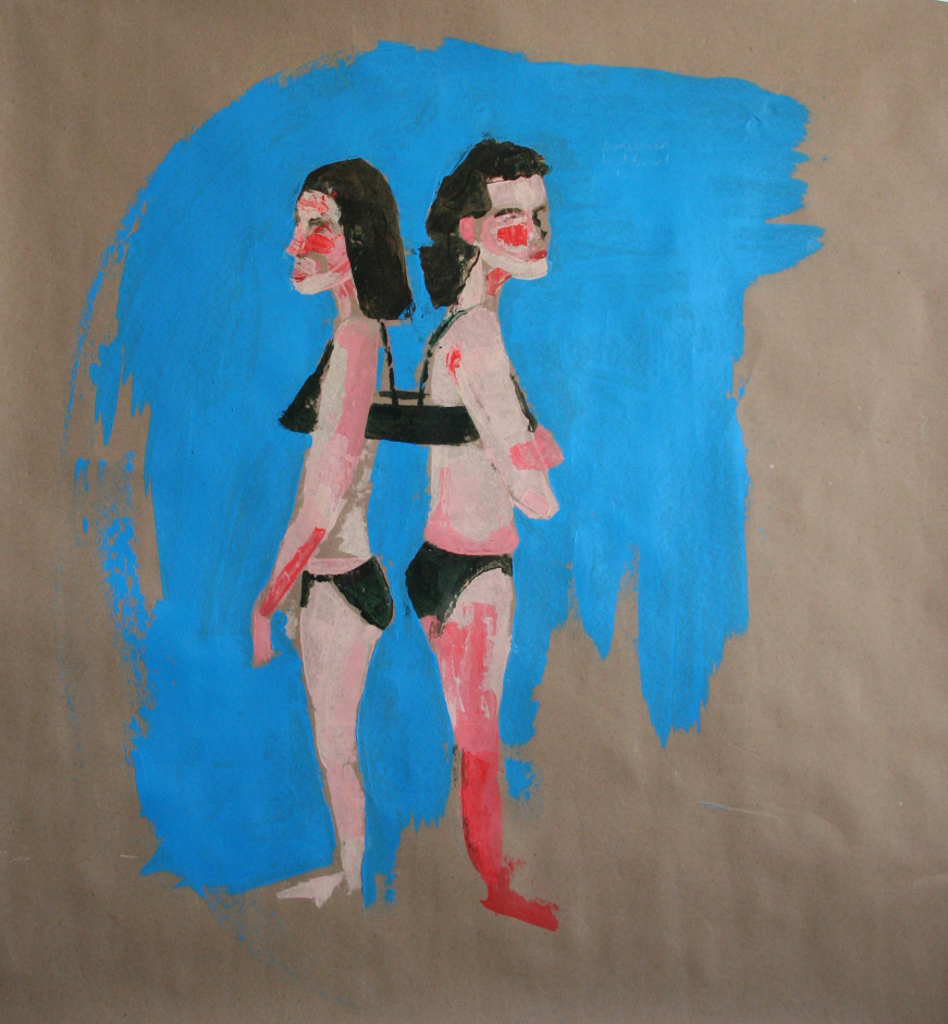 sunscreen, best-friend, bikini  (90x95cm) 2014