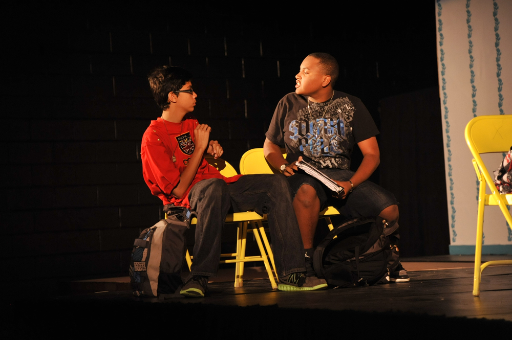 Charlie (Christopher Alexander) is bullied on the bus by Donte (Justin Bracken) everyday before school.
