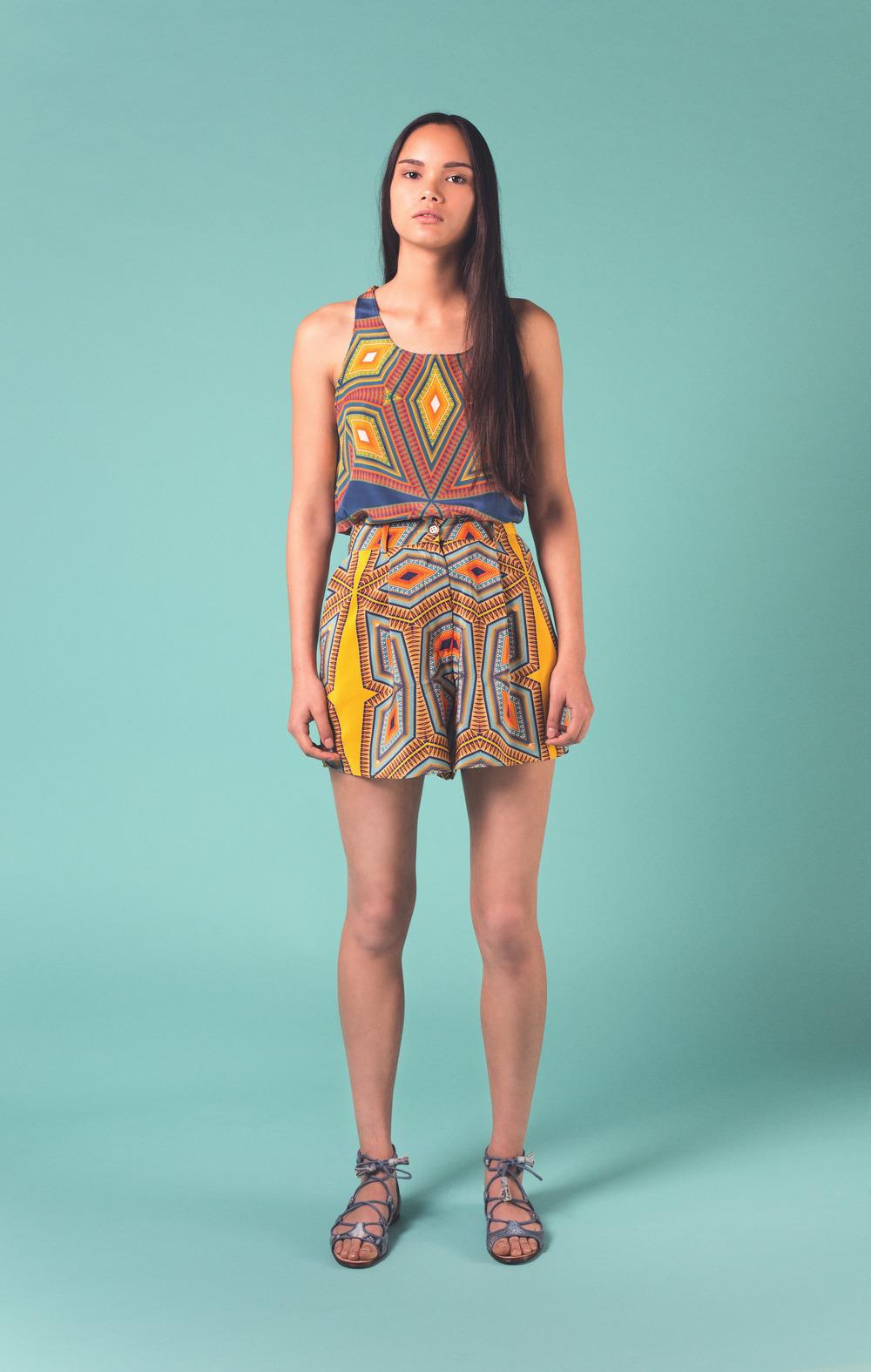Shop Yellow Lagos Shorts