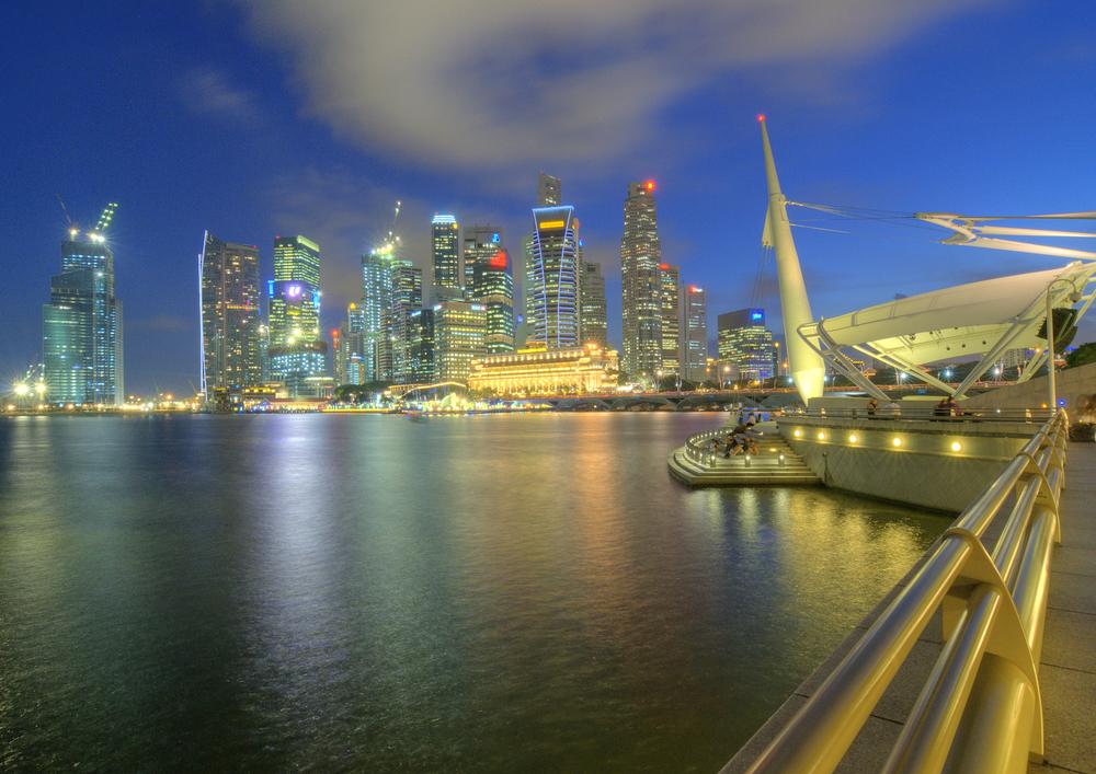 Singapore CBD at Dusk