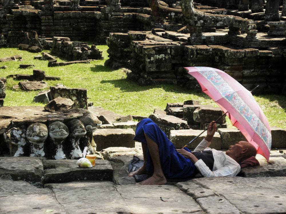 """""""Temple Nap"""" - Cambodia"""