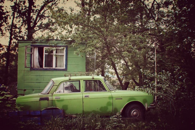 Soviet Cars in Kyiv, Ukraine