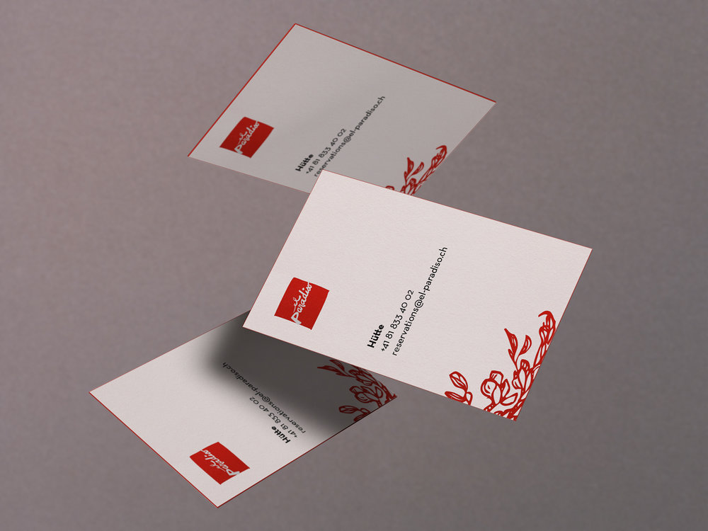 Business cards el paradiso