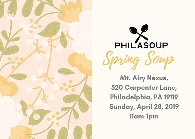 Happy #Friday! We have exciting news to share - We've locked down the location for our upcoming Spring Soup! This is the last one of the school year so you won't want to miss it. #philadelphia #education #nonprofit #phillynonprofit #soup