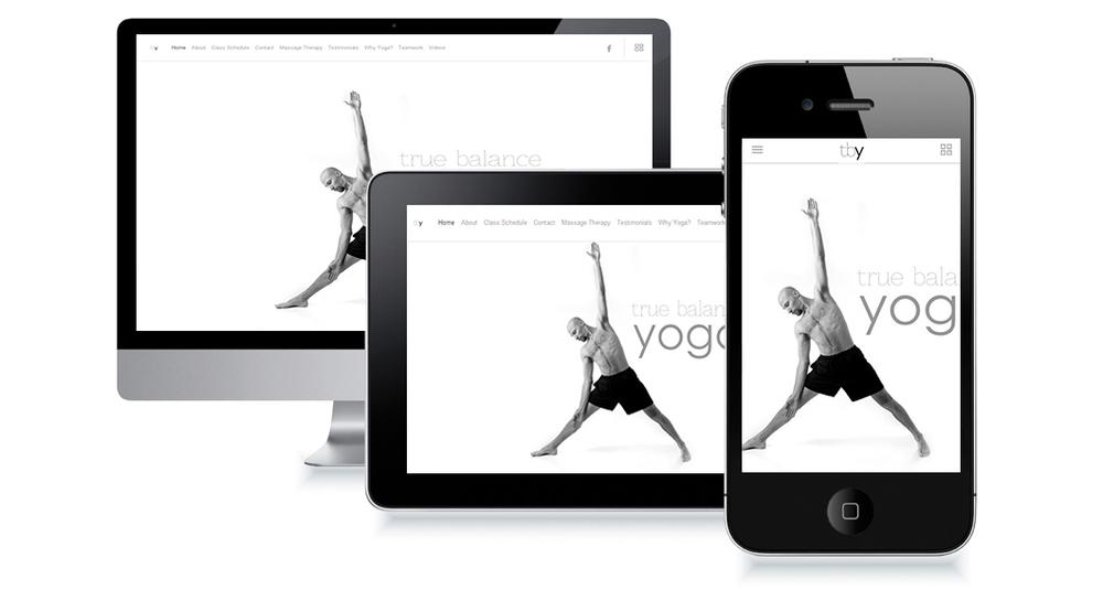 True Balance Yoga Website Design