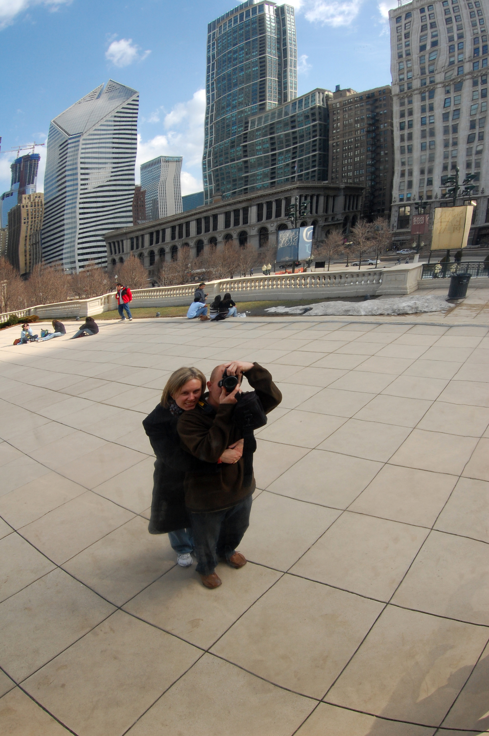 "Our reflection in the ""Bean"" in Chicago"