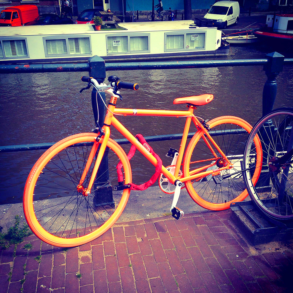 Dayglo bike