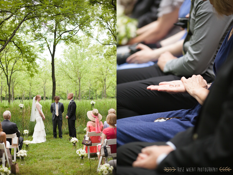 Every guest got a chance to hold their weddings rings and say something special over them.