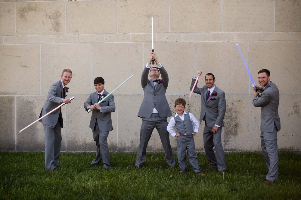 Star Wars Lightsaber Groomsmen