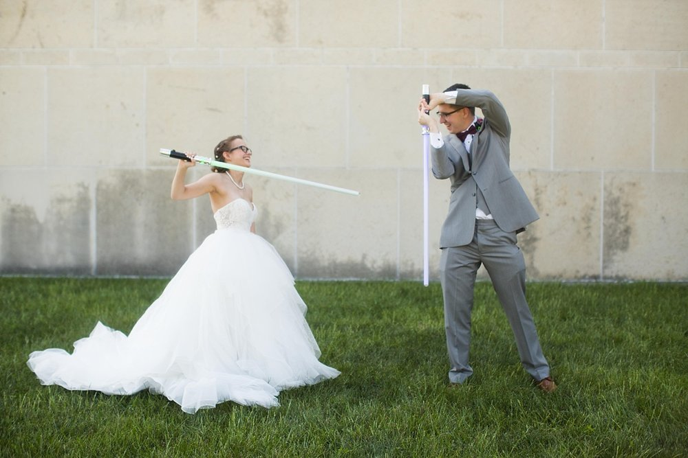 Star Wars Wedding Bride and Groom