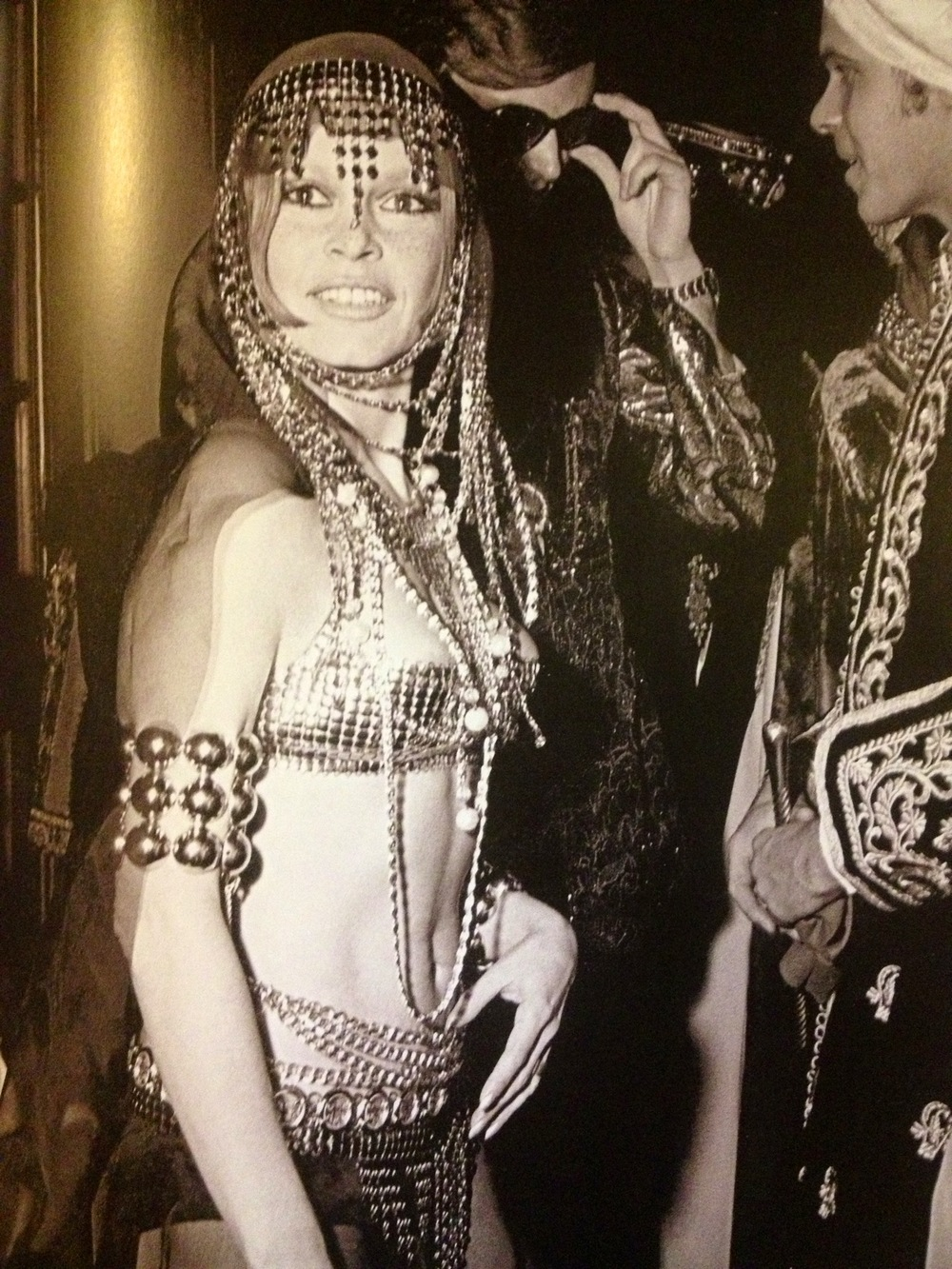 Brigitte Bardot as a belly dancer