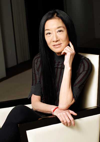 Vera Wang in her signature black