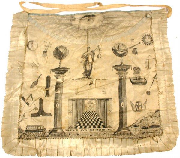 Masonic apron c. 1800