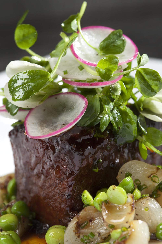 Steak and radishes
