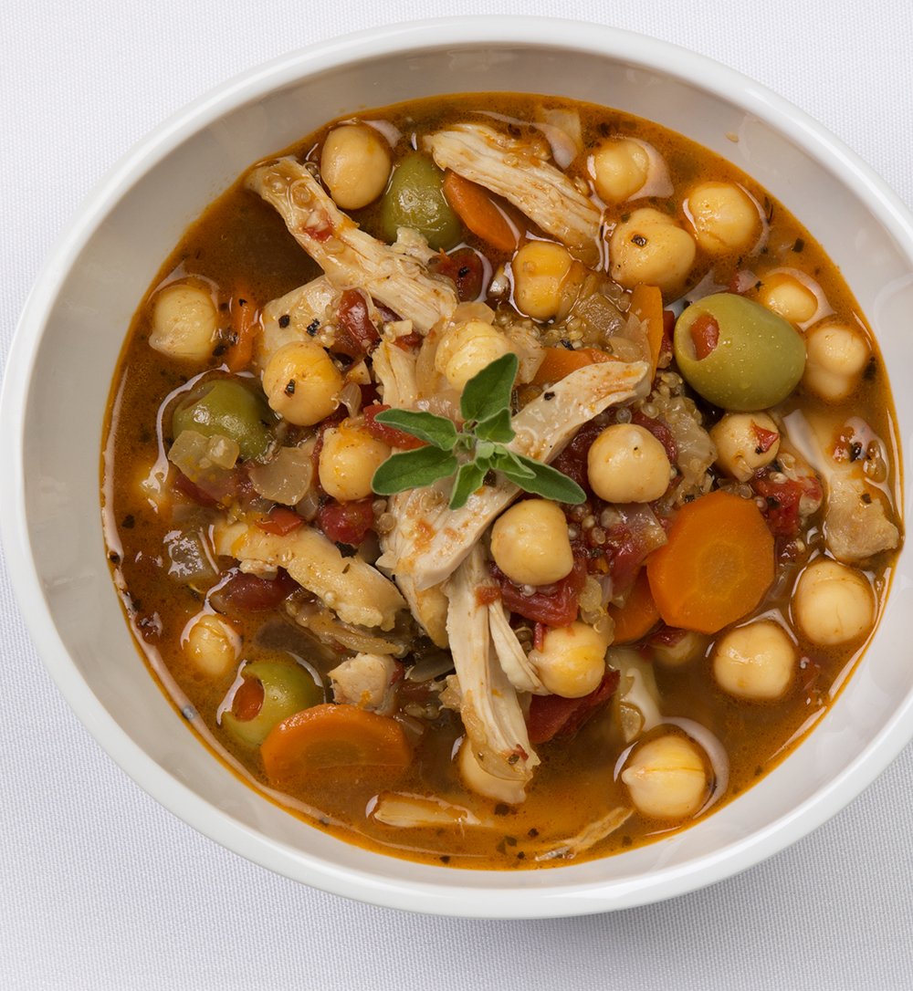 Chicken, olives, garbanzo beans. A bird's eye view for Teasdale Foods new website designed by the folks at tiv.  Watch for recipes on www.teasdalefoods.com