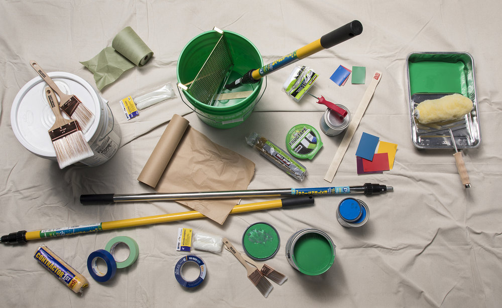 Product photography: Painting supplies