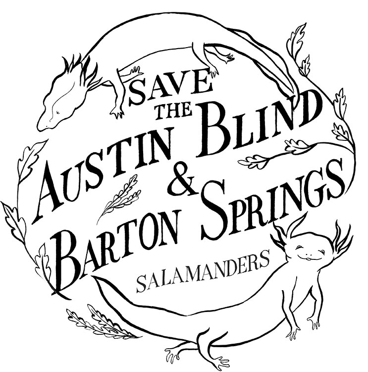 Tote bag design for Save Barton Creek Association. Collaborative work. Lettering by  Joe Schafer