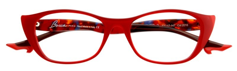 Feel festive with this gorgeous red Face a Face Bocca frame. Santa isn't the only one who can pull off red!