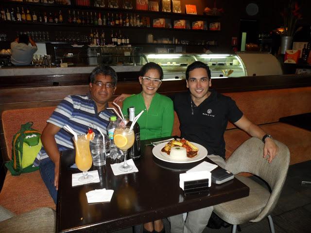 Edgardo, Fernanda e eu no Tanta