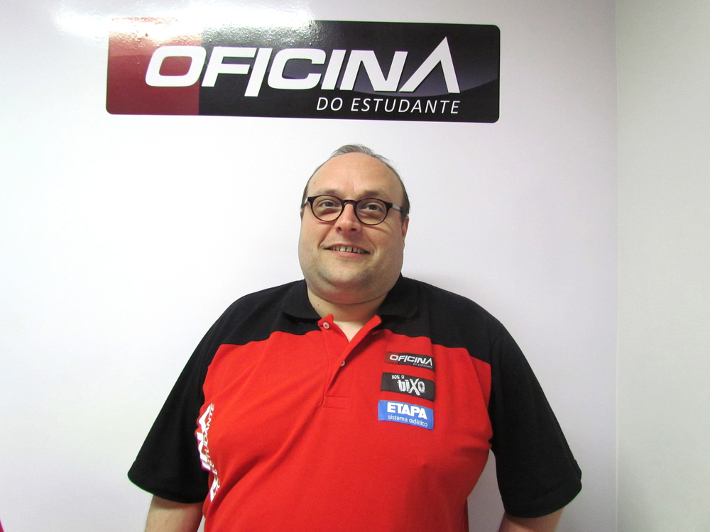 Célio Tasinafo,diretorpedagógico da Oficina do Estudante.