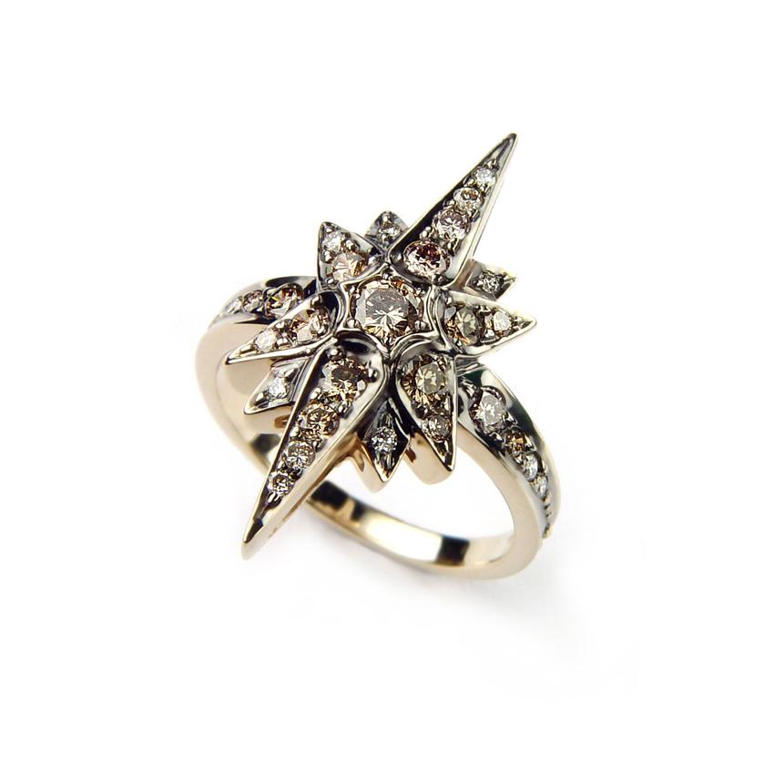 Anel Stars de Ouro Nobre com diamantes cognac (2).jpg