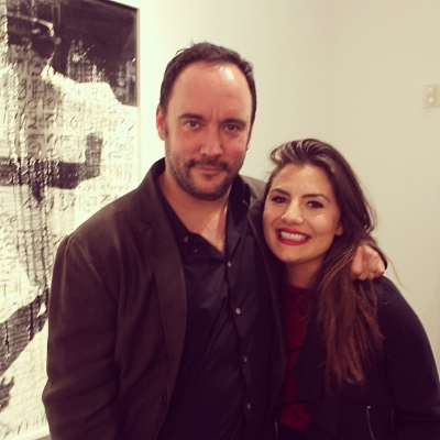 Steph + Dave Matthews @ his art opening