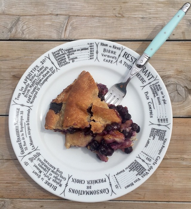 Straight up Blueberry Pie! $3.50 for a slice | $16.50 for a whole pie