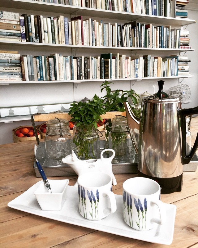 It's always coffee time at Locally Grown Gardens! ☕️ We just 💙 our Pillivuyt Porcelain!!