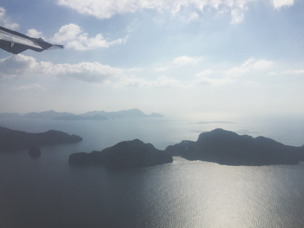 Flight to El Nido, Palawan