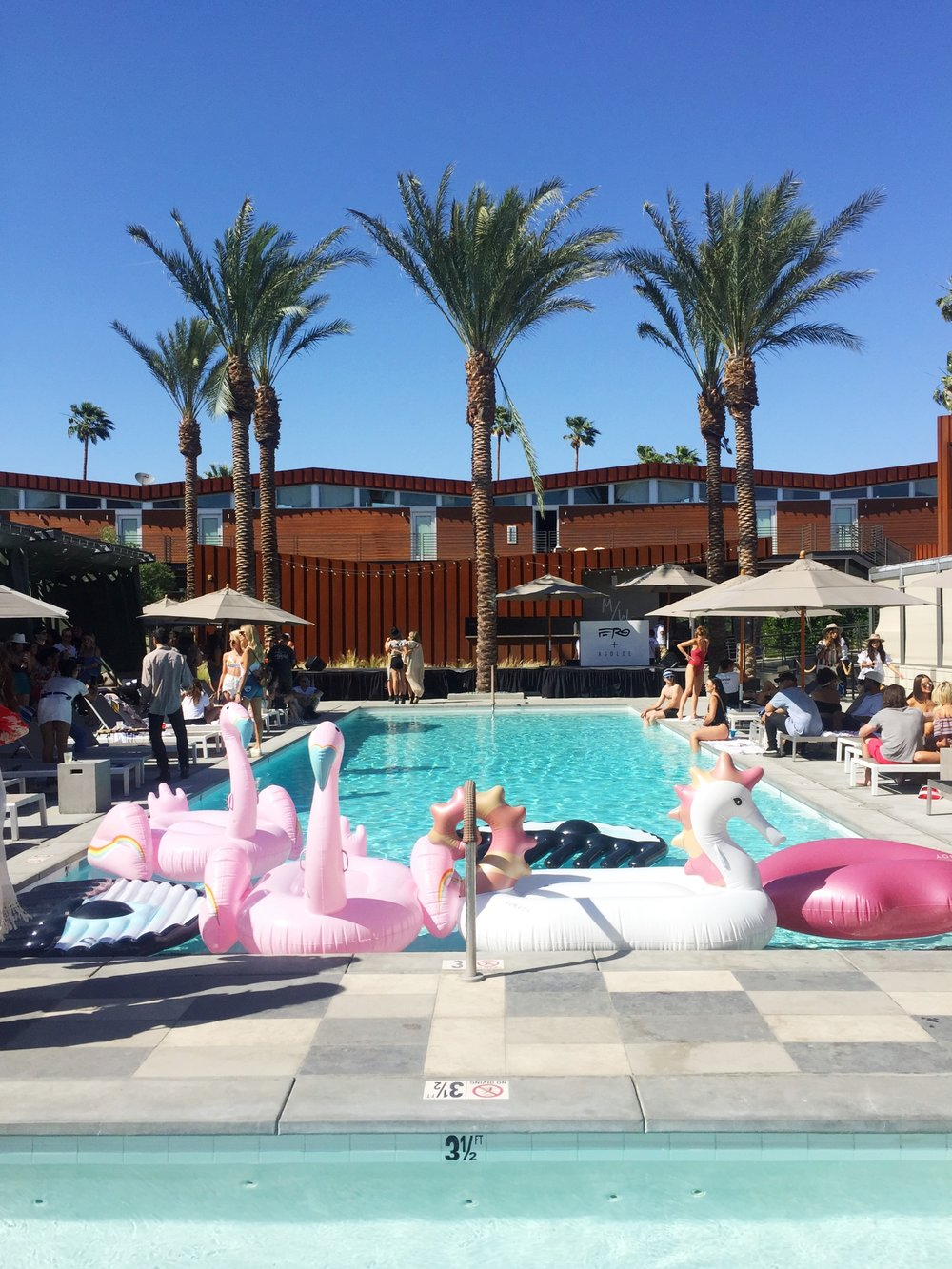 We kicked off Coachella weekend at The Blonde Salad Pool Party at #hotelREVOLVE aka the Arrive Hotel, hosted by blogger Chiara Ferragni with a special performance by rapper A$AP Ferg!