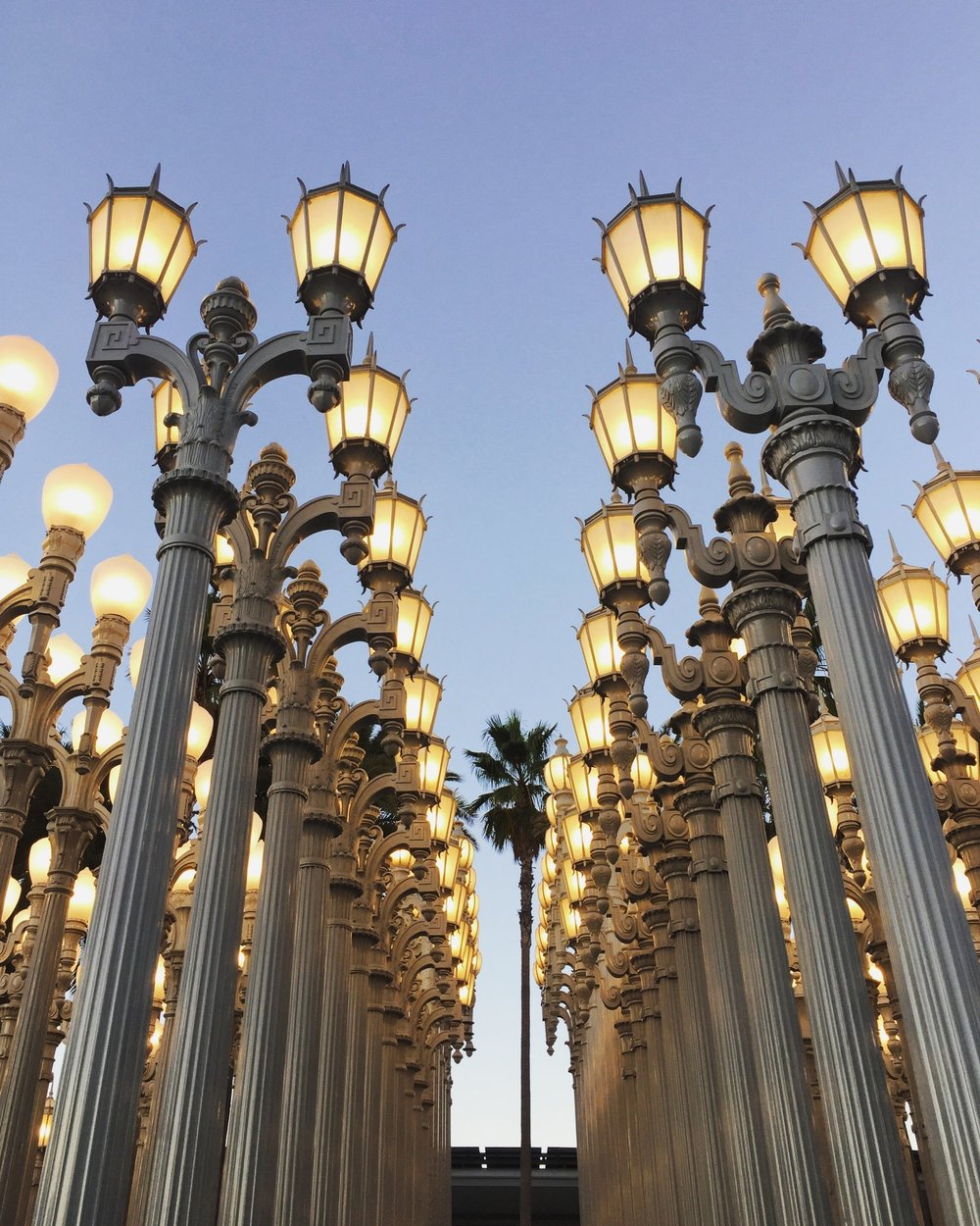 Urban Light installation by Chris Burden