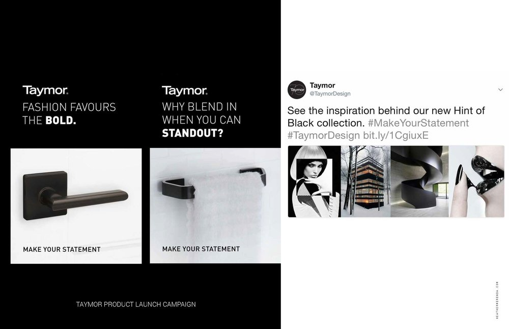 TAYMOR PRODUCT LAUNCH CAMPAIGN: DIGITAL STRATEGY AND COPYWRITING